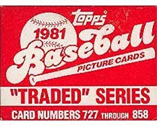 1981 Topps Baseball Traded Series 132 Card Set. Loaded with Great Players Including Danny Ainge's Rookie (Yes, the Boston Celtic Star), Joe Morgan, Tim Raines, Fernando Valenzuela, Dave Winfield, Fred Lynn, Carlton Fisk and Others!