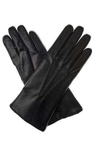 Inserts en herrenlederhandschuhe haarschaf aspect cuir noir - Noir - 8