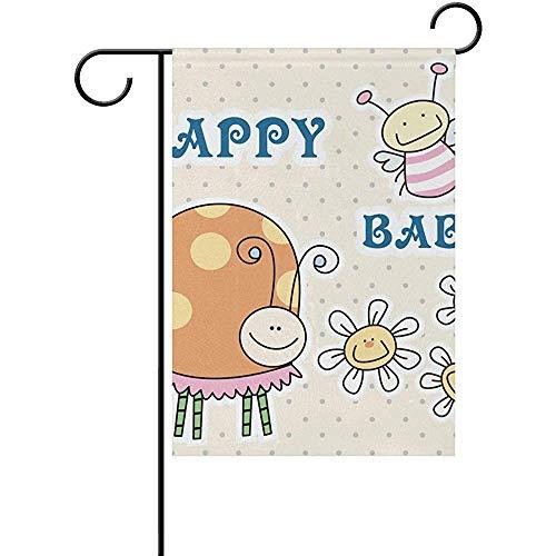 Gelukkig Baby Honing Bijen Tuin Vlag Banner Decoratie voor Thuis Binnenplaats Yard Outdoor Decor