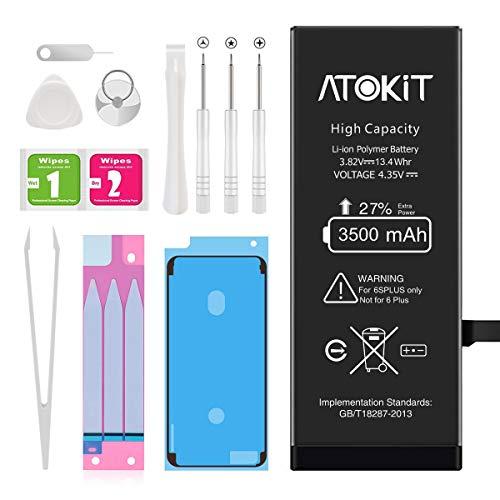 ATOKIT Batteria per iPhone 6s plus, 3500mAh Alta Capacità con il 27% in più di potenza Batteria Interna di Ricambio in Li-ion per iPhone 6s plus, Includere Strumenti di Riparazione