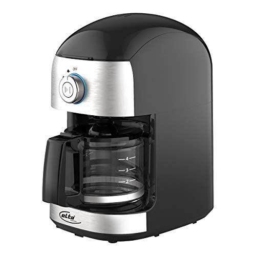 ELTA Kaffeemaschine mit Mahlwerk, edelstahl/schwarz, KM-500G