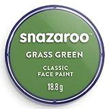 Snazaroo- Pintura Facial y Corporal, Color verde hierba, 18 ml (Paquete de 1) (Colart 18477)