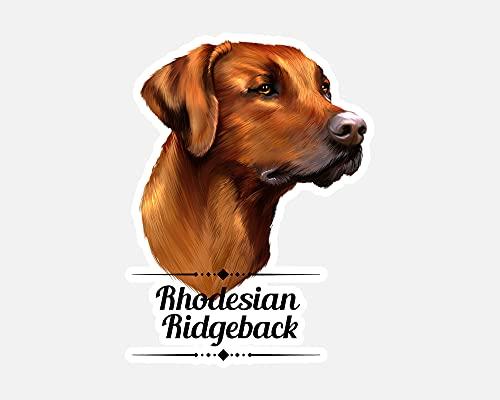 Aufkleber Sticker Autoaufkleber - Rhodesian Ridgeback Hund - Hundebesitzer - Geschenk - Hunderasse - Kontur Schnitt - 20cm