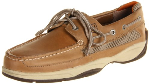 Sperry Lanyard 2-Eye Boat Shoe,Linen,10.5 M US