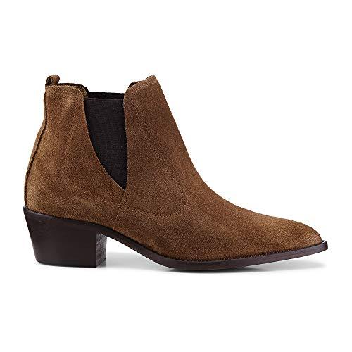 Belmondo Damen Western-Boots Braun Rauleder 40