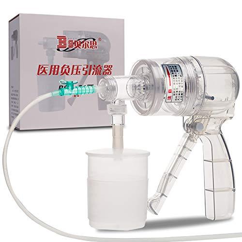 YAOUFBZ Bomba de succión Manual portátil,máquina de secreción de moco flema portátil de Mano Terapia doméstica Kitanti-reflujo y Alta succión para Adultos,hogar portátil,fácil de Limpiar