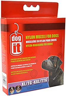 """Dog It Nylon Muzzle for Dogs XX-Large - (9.4"""" Long) - Pack of 6"""