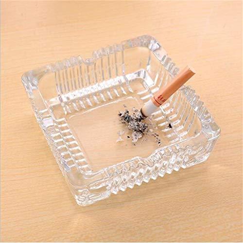 Bleikristall Aschenbecher | Zigarre Zigarette Modern Style Rauchen Ornament Geschenk (Größe: 10,5 * 10,5 * 3 cm Gewicht: 370g)