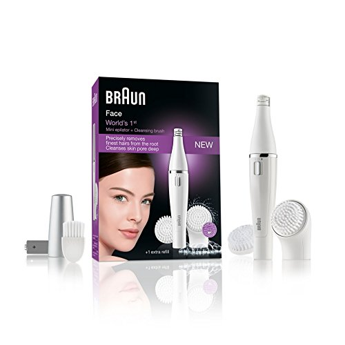 Braun 820 Face - Depiladora, color blanco