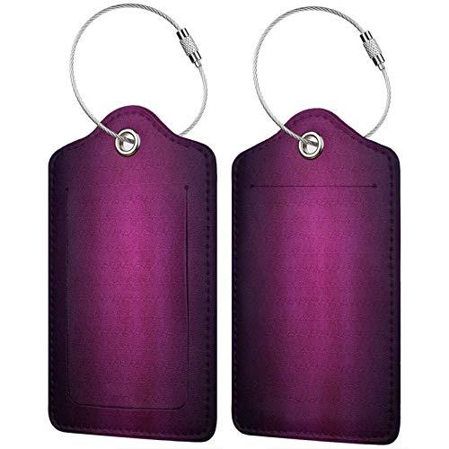 FULIYA - Etiquetas de cuero de gama alta para maletas - Juego de etiquetas de identificación de viaje para bolsos y equipaje - Hombres y mujeres, círculos, giros, espirales, fondo, textura