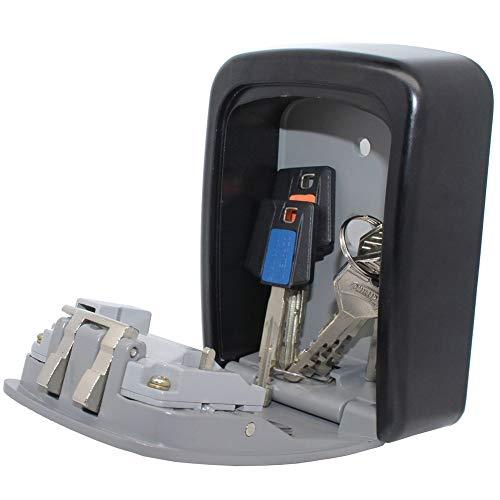 PBOHUZ Caja de Bloqueo de Teclas - Caja de Bloqueo de combinación de 4 dígitos montada en la Pared Caja de Almacenamiento de Seguridad Segura Organizador de Caja