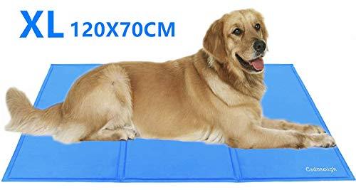 Cadosoigh Alfombra refrescante para Perro Alfombra de Refrigeración Animales Mascotas Colchoneta Cama Manta Refrigerante Automática Ideal para para Perros Gatos en Verano(120 * 70 CM)