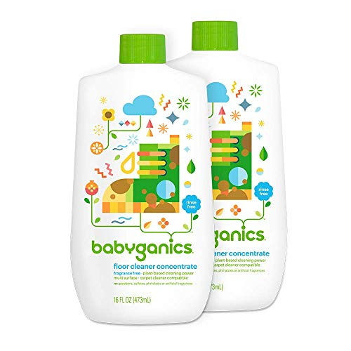 Product Image of the Babyganics Floor Cleaner Concentrate, Fragrance Free, 16-oz (Pack of 2), Packaging May Vary