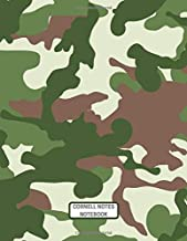 Cornell Notes Notebook: Green & Brown Camo Design for Taking High School and College Notes Plus Office Use