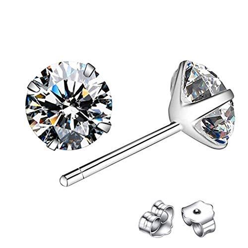 jieGorge Earrings for Women , Classic Sterling Silver Stud Earrings, Hypoallergenic Earrings , Gifts for Women and Girls (WH3)