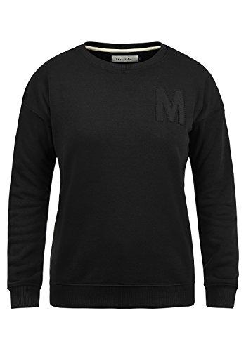BlendShe Melli Damen Sweatshirt Pullover Sweater Mit Rundhalsausschnitt, Größe:XXL, Farbe:Black (20100)