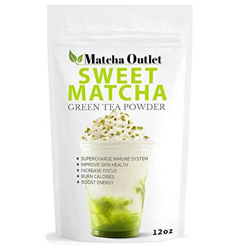 Sweet Matcha from Japan - Green Tea Powder Mix 12oz - Perfect for Making Green Tea Latte or Frappe