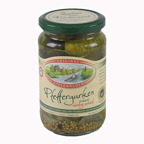 Krügermanns Original Spreewälder Pfeffergurken (370 ml Glas)