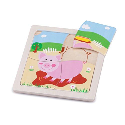 New Classic Toys Mini Puzzle Cochon Jeu Éducatif pour Enfants