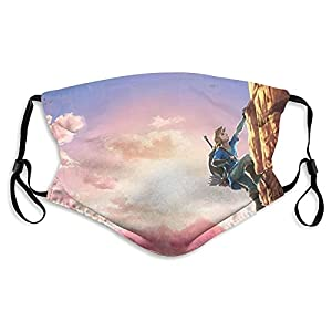 Legend_Zelda, maschera antipolvere unisex, lavabile e riutilizzabile, con cinghie regolabili per le orecchie e filo per il naso, per uomini e donne