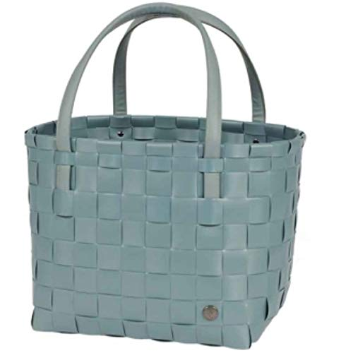Handed By - Color Match Shopper - Teal Blue - B 31cm, H 27cm, T 24cm - 70% recycel Kunststoff