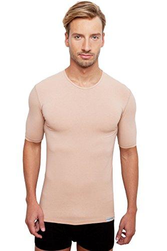 Schaufenberger Unsichtbares Rundhalsausschnitt Business Unterhemd für Herren, Hautfarbe, Größe L