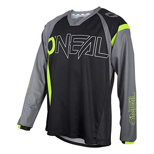 O'NEAL | Mountainbike-Trikot | MTB Mountainbike DH Downhill FR Freeride | Atmungsaktives Material, maximale Bewegungsfreiheit | Element FR Jersey Hybrid | Erwachsene | Schwarz Neon-Gelb | Größe L