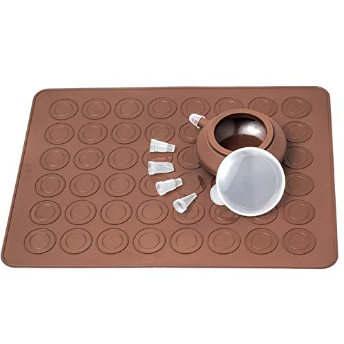 SPRK Silikon-Matte Backform Silikon Macaron Kit Gebäck Backen-Matte und Dekorieren Piping Pot 4pcs Düsen