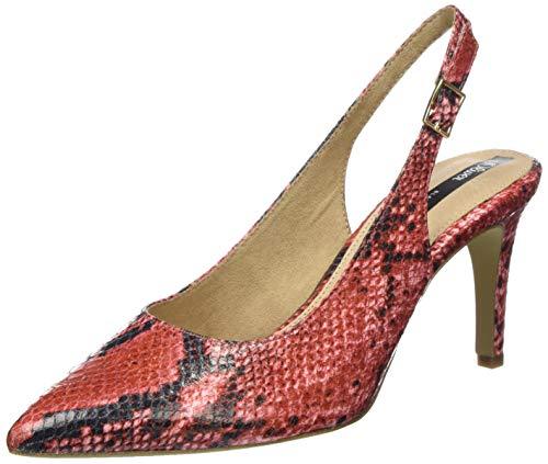 s.Oliver Damen 5-5-29601-24 Slingback Pumps, Rot (RED Snake 586), 39