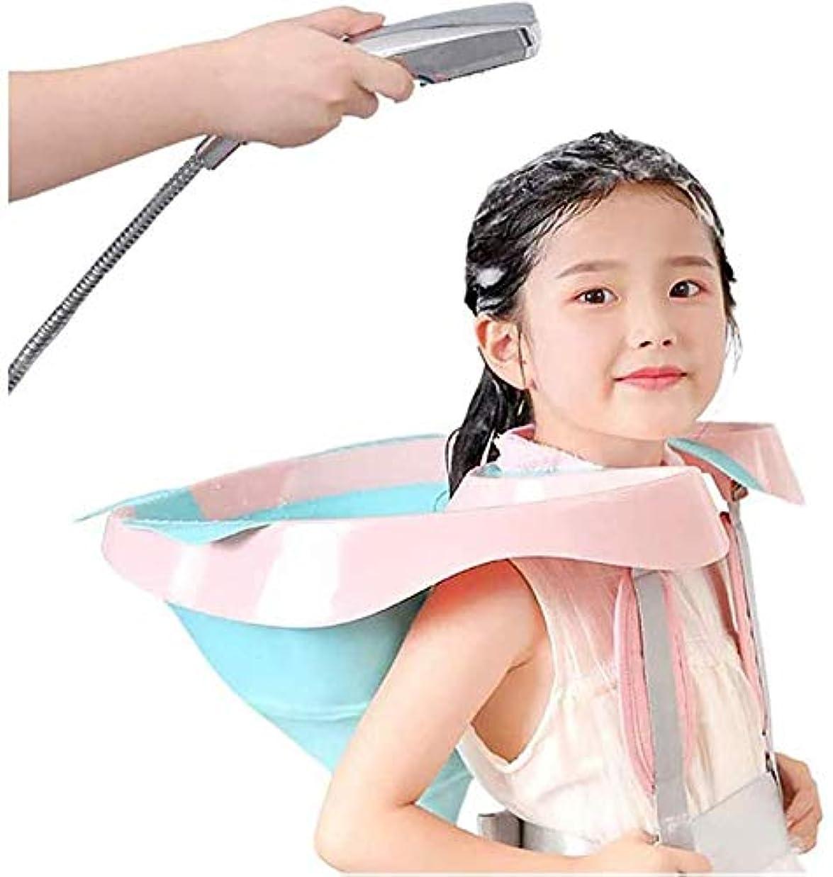 折パスポートロケーションモバイルサロンポータブル折りたたみ式シリコーンシャンプー洗面器と自宅で髪をカット、障害者の妊娠中の女性と子供のための排水管プラスチック