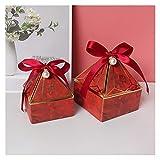 Caja de regalo Caja de embalaje de regalo de boda de caja de caramelo solo para usted caja de regalo de papel de chocolate de caramelo para la fiesta de eventos ( Color : Red , Gift Bag Size : 20pcs )