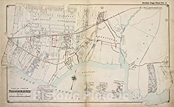 Historic 1915 Map - Part of Town of Brookhaven - Suffolk County (N.Y.Atlas of Suffolk County, Long Island, New York - Vintage Wall Art - 58in x 36in