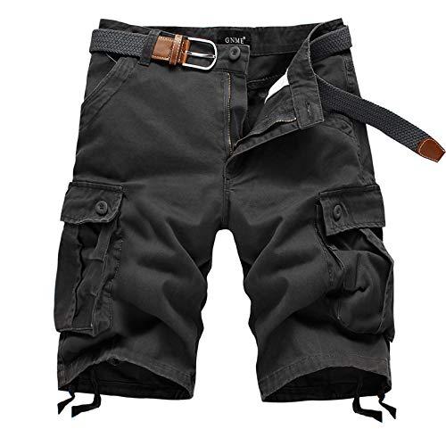 Pantalones Deportivos de Verano de Cinco Puntos para Hombre, Tendencia de Moda, Pantalones Cortos Rectos de Entrenamiento de Fitness al Aire Libre de Gran tamaño Sueltos 34