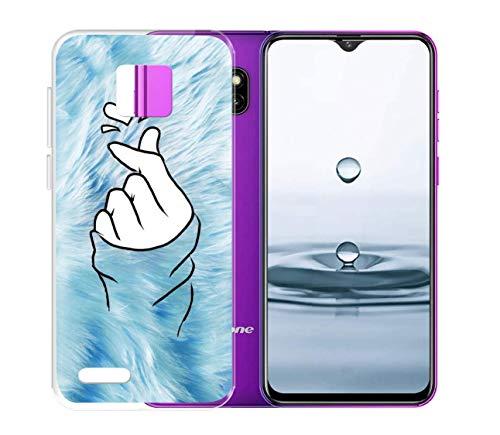 Pnakqil Etui na telefon komórkowy Ulefone Note 7 (2019), odporne na zarysowania, odciski palców, przezroczyste, miękkie, antyżółte, z termoplastycznego poliuretanu (TPU), silikonowe etui do smartfona Note 7 (2019), niebieska miłość