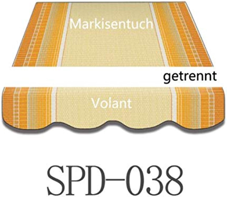 Vana deutschland GmbH Markisenstoff Plane Zelts Markise Stoff mit Volant 4 x 2,5 m SPD038