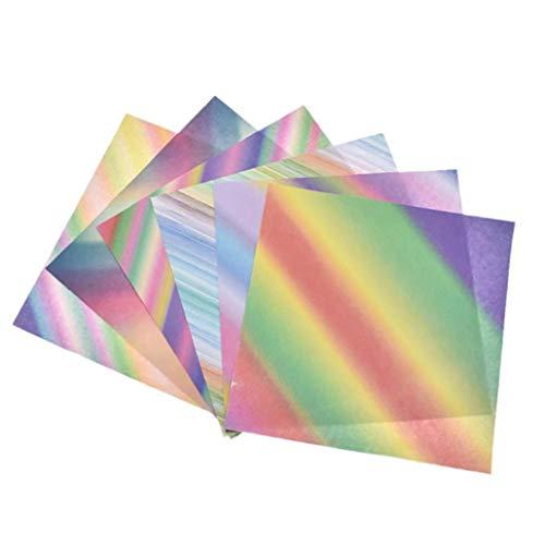 64 hojas de papel de Origami Origami Sky Juego de papel Hermosa Starry de Artes y Oficios Proyectos DIY Crafts Decoración para Niños 15cm 6in