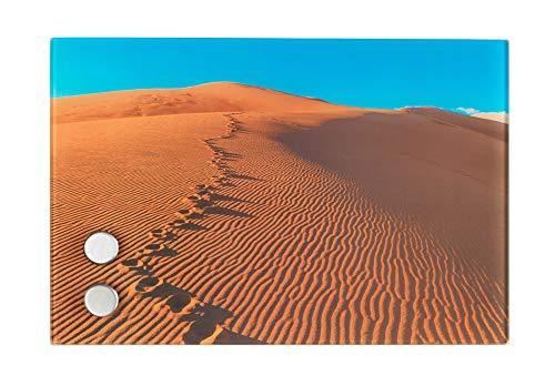 Wenko Schlüsselkasten Sanddüne magnetisch, mit 17 Haken, Gehärtetes Glas, Multicolor, 5x30x20 cm