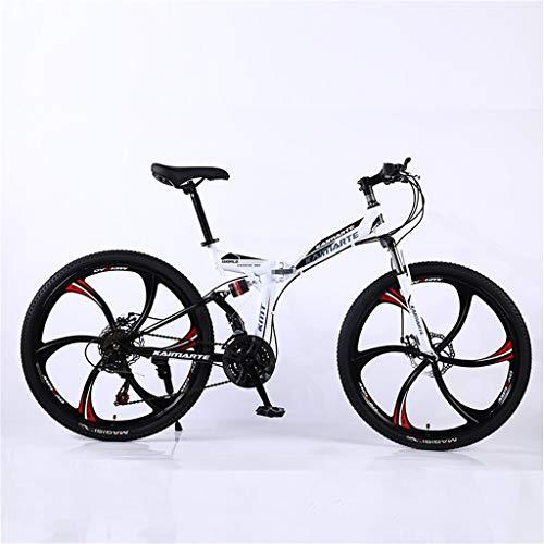 Hörsein 24 Pulgadas Bicicleta de montaña Plegable de 26 Pulgadas generación Adulta Regalos de cumpleaños de la Bicicleta de la Cola Suave Fuera de la Carretera, etc,C,24 Inch 21 Speed