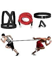 YNXing 4-Pcs Bungee Resistance Cord Set Fit Solo of Partner Geweldig voor Taekwondo Hockey Tennis Voetbal Basketbal Schermen Laterale Beweging Sprint Overspeed Training