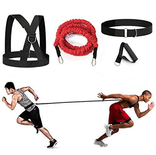 sunSign Widerstandstraining Seil Körperliches Training Widerstandsseil-Kit für Arme und Beine Geschwindigkeits-Beweglichkeitstraining Geschwindigkeit und Kraft verbessern (Rot-6.6ft Kit)