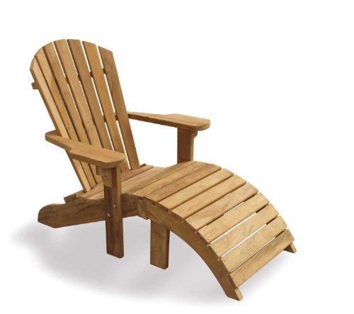 Jati Teak Adirondack Bear Chair with Footstool - Sturdy and Sustainable Hardwood Brand, Quality & Value