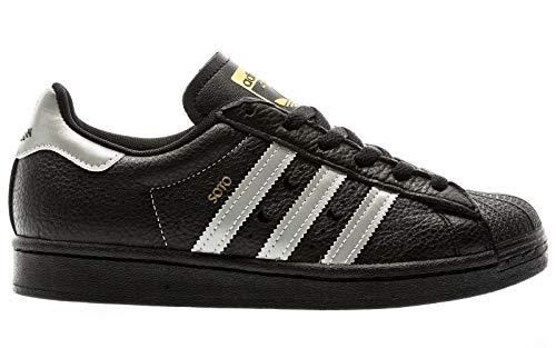adidas Skateboarding Superstar ADV X Soto, core Black-Silver metallic-Gold metallic, 4