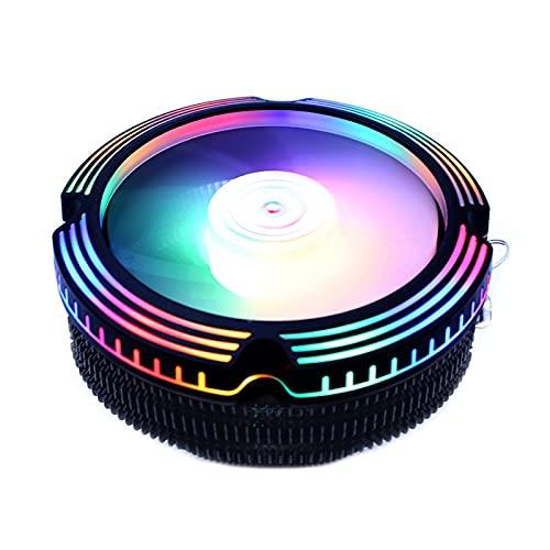 PC CPU Cooler Fan120mm Colorido RGB 3 Pin para Intel LGA 1200 1150 1151 1155 1156 775 1366 AMD AM2 AM3 AM4 Radiador (Blade Color : 65W Version)