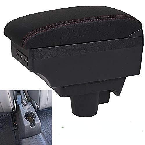 , para Opel Astra H Caja de reposabrazos Opel Astra Accesorios de Coche Caja de Almacenamiento Interior reposabrazos Original USB Recargable-C-Black_Black_Line