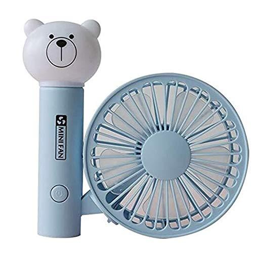 JZUKU Ventilador de Mano USB Aparato Pequeño Ventilador Portátil De Carga Ventilador (Color : Blue)