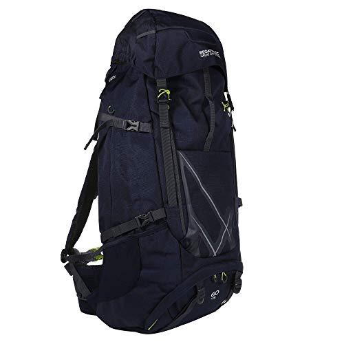 Regatta Kota Expedition Padded Expandable Hydration Reflecterende Travel Hiking Rugzak - Navy Blazer, 60 + 15 Liter