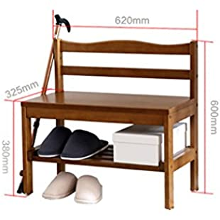 Solid wood shoe bench Storage stool Modern and simple Old man changing shoes stool Shoe Racks (Color  A):Shizuku7148