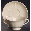 Queen's Plain Footed Cream Soup Bowl & Saucer Set by Wedgwood | Replacements, Ltd.