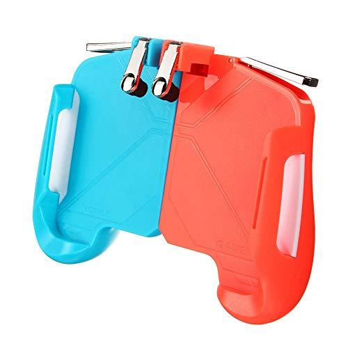 Mando de Juego 2 en 1 Gamepad del Juego del regulador del Juego HandleFor PUBG Mobile for Android iOS Smartphone Teléfonos Smartphones (Color : Red, Size : One Size)