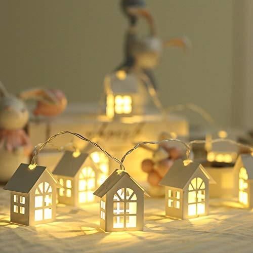 ZZSSC LED Luces de Cadena LED 2M Luces de Navidad Lámpara de decoración Guirnalda 10leds Año Nuevo Fiesta de Boda Habitación Holiday Luces de jardín al Aire Libre